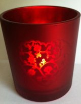 red candle wedding favor