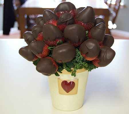 chocolate strawberry centerpiece