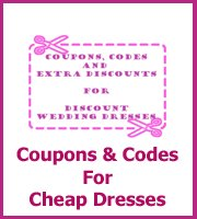coupons and discount codes for wedding dresses