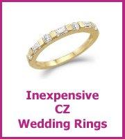 cz wedding rings