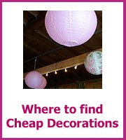 where find cheap wedding decorations