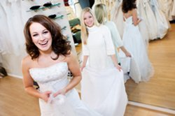 shopping for a cheap wedding dress