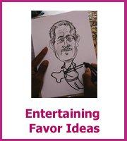 entertaining ideas for wedding favors