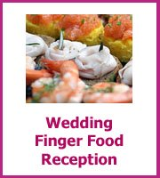 wedding finger food reception