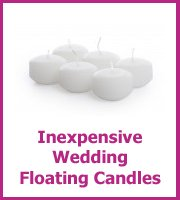 cheap wedding floating candles