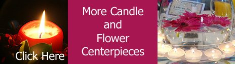 candle and flower wedding centerpieces