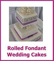 cheap rolled fondant wedding cake ideas