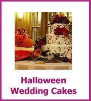 cheap halloween wedding cakes