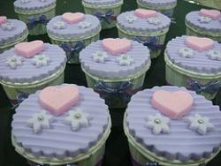 lilac pink wedding cupcake