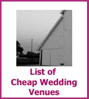 list of cheap wedding venues