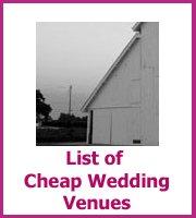 list of cheap wedding venues