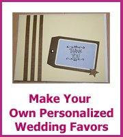 how to make cheap personalized wedding favors