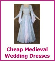 cheap medieval wedding dresses