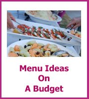 Your cheap wedding reception menu doesn