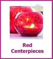 cheap red centerpieces