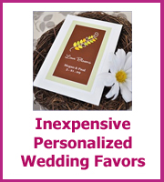cheap personalized wedding favors