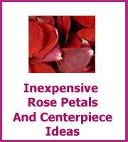 inexpensive wedding rose petals