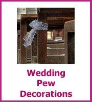 wedding pew decorations