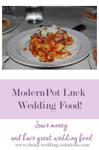 pot luck wedding food