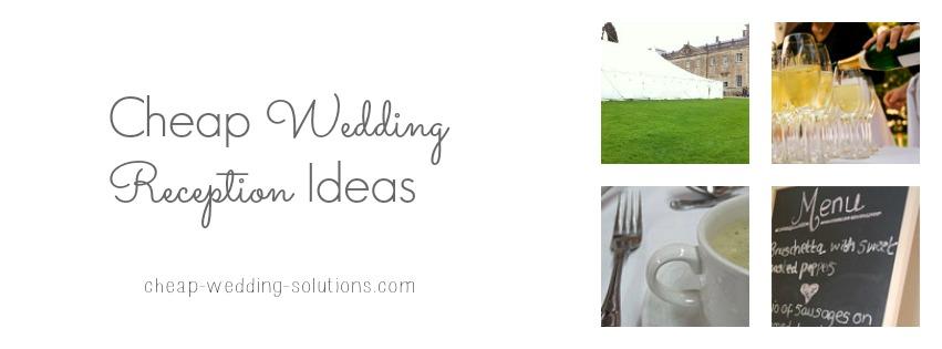 cheap wedding reception ideas