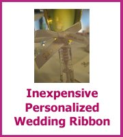 inexpensive personalized wedding ribbon