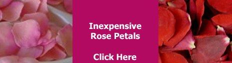 inexpensive rose petals