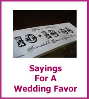 sayings for a wedding favor