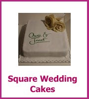 cheap square wedding cakes
