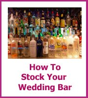 how to stock yuor wedding bar