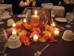 fall wedding table theme