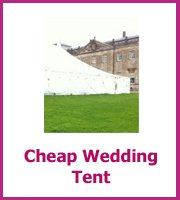 cheap wedding tent