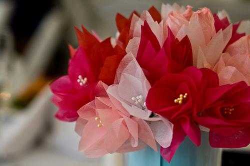 tissue paper wedding bouquet