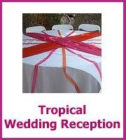 cheap tropical wedding reception
