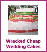 wrecked cheap wedding cakes