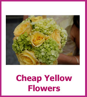 cheap yellow wedding flowers
