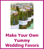 cheap homemade wedding favors