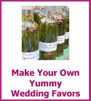 cheap homemade wedding favors